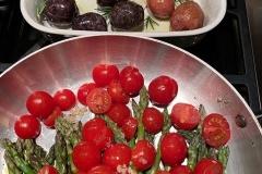 Roasted Asparagus, Tomatoes, Potatoes
